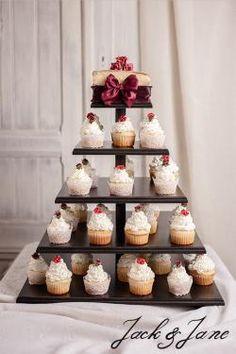 Szögletes antikolt 5 szintes fekete cupcake állvány - DREAM   Jack&Jane tortaállványok Cheese, Desserts, Food, Tailgate Desserts, Deserts, Essen, Postres, Meals, Dessert