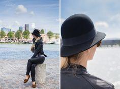 Hafen Maas Rotterdam Niederlande Leather-Fashion