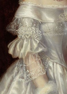 Portrait of Mrs Alexander Spark by Maurice Felton, 1840 - detail close-up of puffed sleeve and bodice with bertha collar Renaissance Kunst, Renaissance Paintings, Aesthetic Painting, Aesthetic Art, Princess Aesthetic, Album Design, Classical Art, Detail Art, Lace Detail
