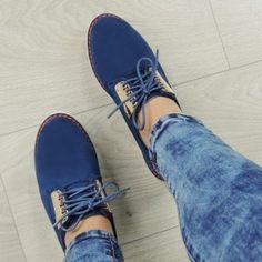 tmavomodre-damske-poltopanky-na-snurovanie (1) Sperrys, Boots, Sneakers, Fashion, Crotch Boots, Tennis, Moda, Slippers, Fashion Styles