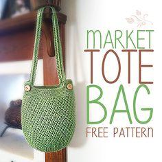 Ravelry: Market Tote Bag pattern by Little Monkeys Crochet