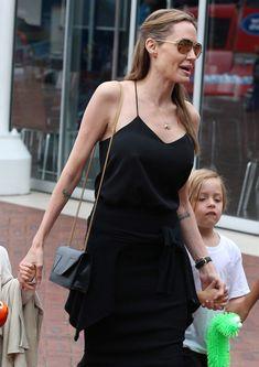 The Many Bags of Angelina Jolie - Saint Laurent Betty Mini Shoulder Bag