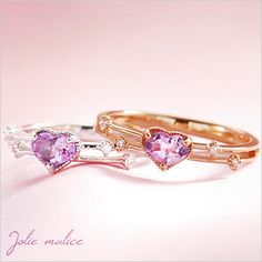 Rakuten: Pinkie ring pink gold white gold amethyst heart pinkie ring 1 - 6 available [pr1] [the jewelry which wants to put on in summer]- Shopping Japanese products from Japan