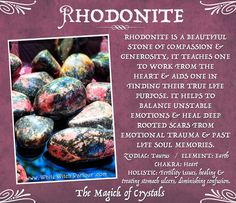 Rhodonite is a beaut