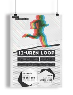 Poster design for a charity run event #mockup #flyer #poster #run #event