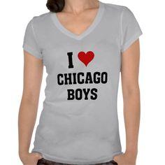 I love Chicago boys Shirts