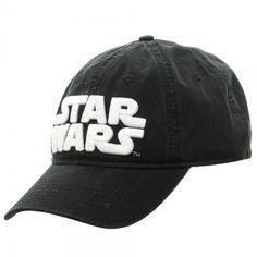 Star Wars Logo Black Embroidered Adjustable Dad Hat Strapback Cap Disney