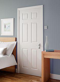 Slimline 6 panel Grained Moulded Internal Door
