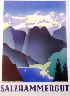 Pub, Retro Illustration, Central Europe, Salzburg, Vintage Travel Posters, Homeland, Austria, Switzerland, Boats