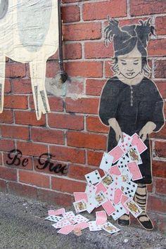 Street art - Playing Cards street art. Wonderful piece.