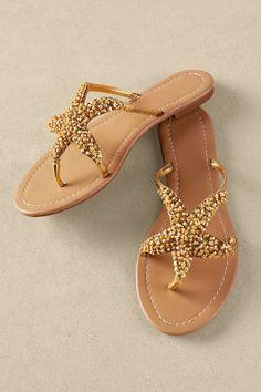 Sealife Sandal - Beaded Thong Sandal, Best Sandal For Summer, Starfish Sandal | Soft Surroundings