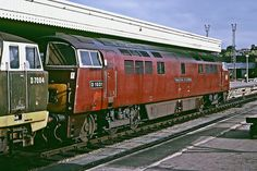BR Type 4 Diesel Hydraulic 'Western Class' C-C no. D1031 'Western Rifleman' at Bristol Temple Meads. 30th August 1965.