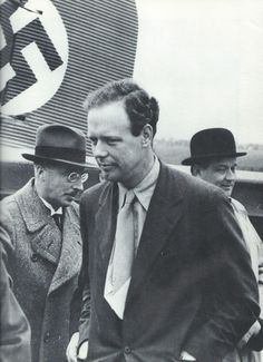 Charles Lindbergh at Bremen in 1937. Like Henry Ford, he accepted a medal from the Nazis, but he never wore it.