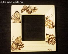 Cornici bambini ~ Cornice pirografata le mie creazioni cornici pinterest cornice