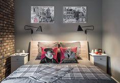 Квартира для молодой семьи скомиксом «Хранители» на стенах. Изображение № 17.