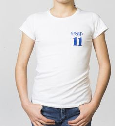 GIRLS - EQIP-11 print T-shirt - white. For girls who also want to radiate team spirit and sportsmanship off the field.