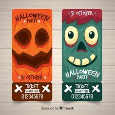 Set de tickets para fiesta de halloween con caras de monstruos vector gratuito Halloween 2020, Halloween Treats, Halloween Party, Party Tickets, Movie Tickets, Hallowen Ideas, Admission Ticket, Halloween Illustration, Cute Patterns Wallpaper