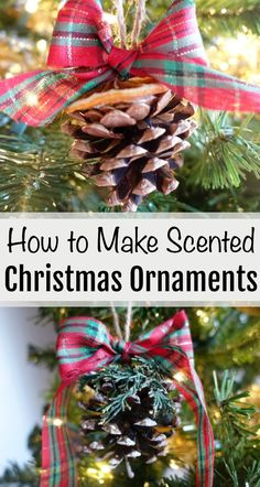 Decorate your tree with these easy DIY Christmas decorations! Easily make your own scented Christmas ornaments and decorations - just follow this fun tutorial!