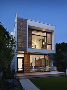Modern Modern Exteriors On Narrow Lots Design,