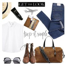 """""""keep it simple"""" by einn-enna ❤ liked on Polyvore featuring Cheap Monday, Monki, Elizabeth and James, Wood Wood and celebairportstyle"""