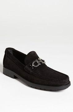 Salvatore Ferragamo Master Loafer in black suede