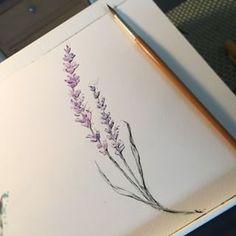 lavender watercolor tattoo - Google Search