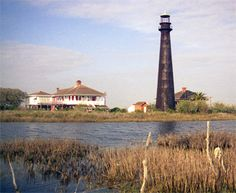 Bolivar Point Lighthouse, Texas at Lighthousefriends.com..great history on the lighthouse