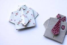 Tutorial – Origami Shirts for Father's Day - Craft Gossip