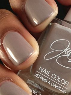 JulieG - Stiletto   my perfect taupe nail color<3