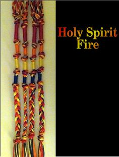 Ruach HaKodesh Holy Spirit Fire Tzitzits by AriellaHannah on Etsy