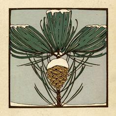Jan van Oort, Calendar, 1909. For the Bakery De Ruijter, Verkade & Co. Netherlands. Verkade's Jaargetijde-album via Wolfsonian.
