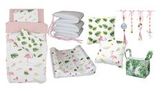 Our Tropical Flamingo collection is perfect an outdoor and animal theme, in bold pink and green designs, it is perfect for any little girl's flamingo nursery!