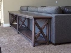 Ana White   Extra long, no middle shelf Rustic X Console - DIY Projects