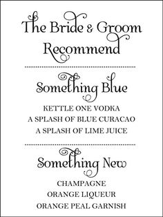 #Wedding Signature Drink Sign by WeddingsByJamie on Etsy  ... But I would do something old and have old fashioneds and something new....