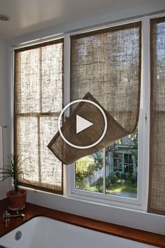 DIY Bay Window Curtain Rod for Less budget . Diy Bay Window Curtains, Window Curtain Rods, Burlap Curtains, Room Window, Room Decor Bedroom, Diy Room Decor, Diy Bedroom, Farmhouse Curtains, Home Decor Furniture