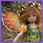 Butterfly wings-New project by doll fashion designer Martha Boers...