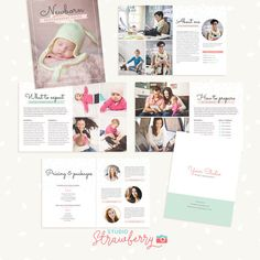 Newborn Photography Magazine 10 pages Template by StudioStrawberry