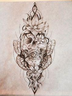 Als Melhores Tattoos de Pet - diy tattoo images - Tatoo Ideen Lotusblume Tattoo, Tatoo Henna, Body Art Tattoos, Sanskrit Tattoo, Hamsa Tattoo, Tatoos, Tiny Skull Tattoos, Pretty Skull Tattoos, Skull Thigh Tattoos