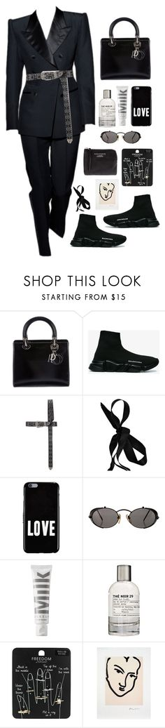 """f the pilgrims"" by millicent4 ❤ liked on Polyvore featuring Christian Dior, Tom Ford, Balenciaga, Vetements, Marni, Givenchy, Jean-Paul Gaultier, MILK MAKEUP, Le Labo and Topshop"