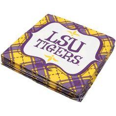 LSU Tigers 20-Pack Framed Beverage Napkins