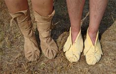 Traditional Choctaw Puckered-Toe style Moccasins - Choctaw Nation Cultural Services