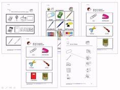 MATERIALES - Mi colegio  Diferentes propuestas y actividades para trabajar todo el Vocabulario referente al colegio:  - Identificación y evocación de vocabulario. - Categorización de vocabulario. - Semejanzas y diferencias. - Lectura y escritura. - Comprensión de textos.  http://arasaac.org/materiales.php?id_material=1066