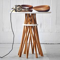 Tim Karoleff: Bundle Side Table Oak White