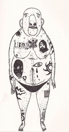 "David Litchfield Illustration — ""Once A Giant"" Taken from my ""A Drawing A Day"". Art Sketches, Art Drawings, Comic Art, Creation Art, Illustration Art, People Illustration, Arte Disney, Hippie Art, Arte Pop"
