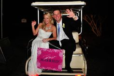 MY FAVORITE COUPLE                     Golf Cart Getaway for a Bride and Groom at The Westin Savannah Harbor.