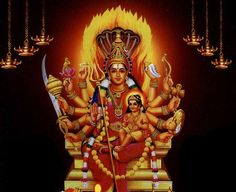 Goddess Sakthi and Lord Muruga