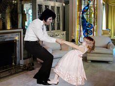 """Elvis dancing with Lisa Marie Pinned from Maui, Hawaii and the tribute show: """"Burn'n Love"""" http://www.burnnlove.com/......lbxxx."""