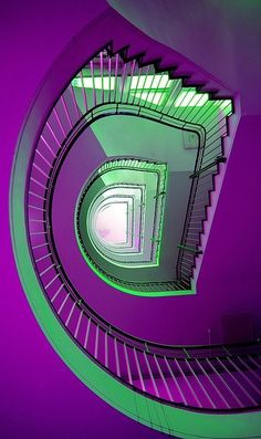 Purple & Green Stair-Way <3 Photo