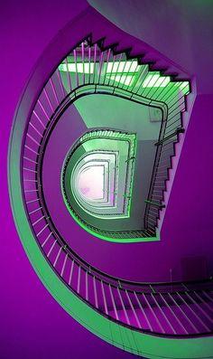 Purple & Green Stair-Way <3 Photo