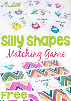 Silly Shape Matching Game - Life Over Cs